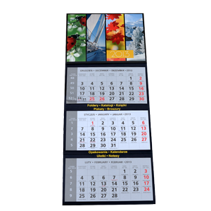 Kalendarze, poligrafia